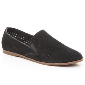 Lucky Brand Carthy Perforated Suede Loafers Flats